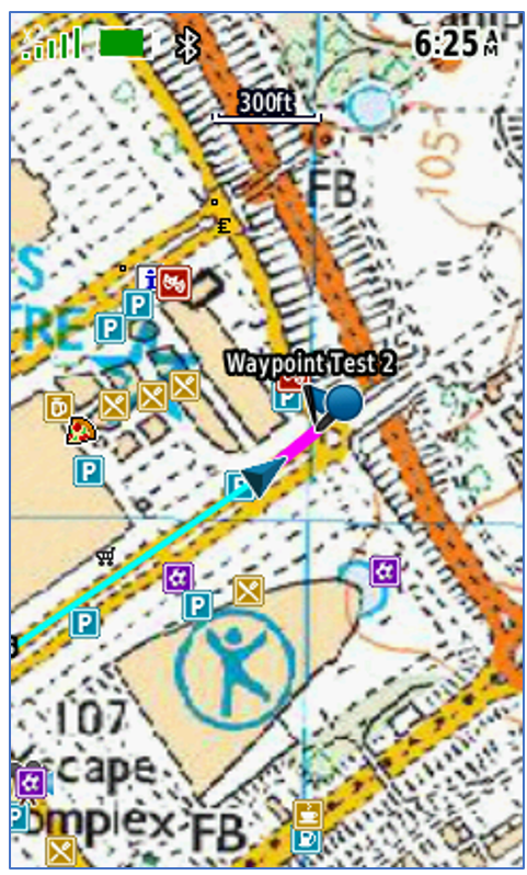 Arriving at the second waypoint